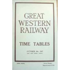 Great Western Railway Time Tables October 6th 1947