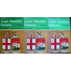 History Of The Great Western Railway 3 Volumes (Macdermot, Clinker, Nock)
