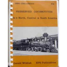 Preserved Locomotives Vol.3 North, Central & South America 1980-1981 edition (Wildish)
