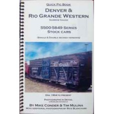 Denver & Rio Grande Western Narrow Gauge 5500-5849 Series Stock Cars (Conder)