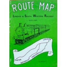 Route Map. London & South Western Railway Main Lines (Mitchell)