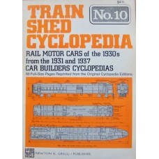 Train Shed Cyclopedia No.10. Rail Motor Cars of the 1930s (Gregg)