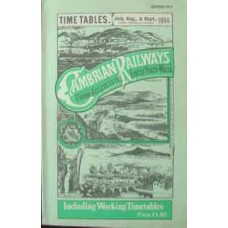 Timetables July, Aug., & Sept., 1904 Cambrian Railways (Reprint)