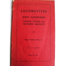 Locomotives of the North Staffordshire & the L.T.S.R - Types,Building,Dates,etc (Allchin)