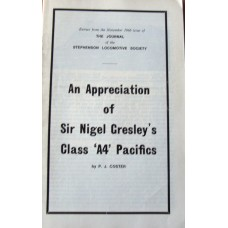 An Appreciation of Sir Nigel Gresley's Class A4 Pacifics (Coster)