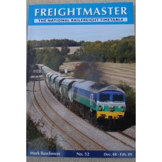 Freightmaster. The National Railfreight Timetable No.52 Dec 08-Feb 09