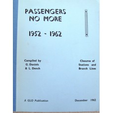 Passengers No More 1952-1962 Closures of Stations and Branch Lines (Daniels)