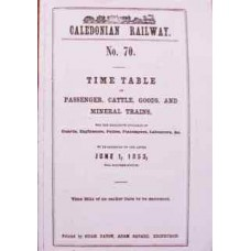 Caledonian Railway Working Timetable 1853 (Facsimile)