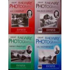 Great Railway Photographers. Earley, Casserley, Wethersett, Priestley. Set of 4