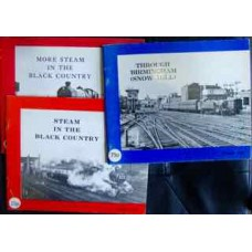 3x Michael Hale Books Through Birmingham Snow Hill, Steam in the Black Country, More Steam in the Black Country