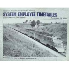 Atchison, Topeka and Santa Fe Railway System Employee Timetables Volume One-Eastern Lines November 29, 1942 (SFRH&MS)